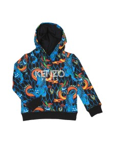 Kenzo Kids Boys Blue Dragon Printed Hoody
