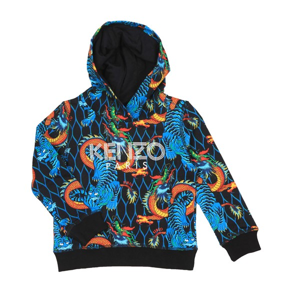 Kenzo Kids Boys Multicoloured Dragon Printed Hoody main image