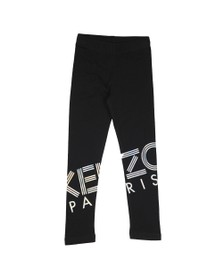 Kenzo Kids Girls Black Sport Line Logo Legging