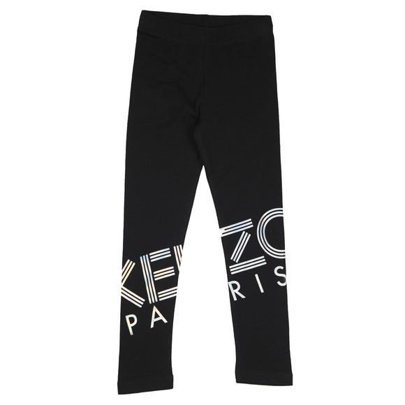 Kenzo Kids Girls Black Sport Line Logo Legging