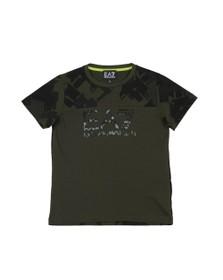 EA7 Emporio Armani Boys Green Camo Logo T Shirt