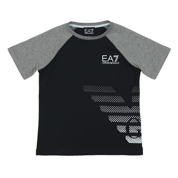 EA7 Emporio Armani Boys Black EA7 Armani Logo T-Shirt