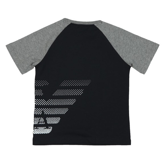 EA7 Emporio Armani Boys Black EA7 Armani Logo T-Shirt main image