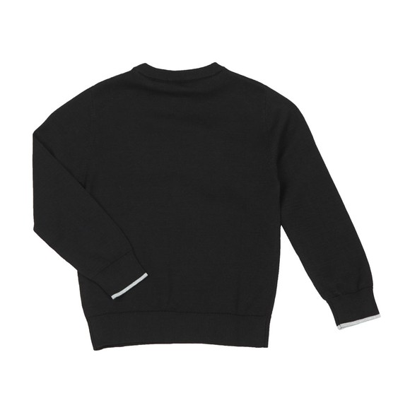 BOSS Boys Black Large Logo Jumper main image
