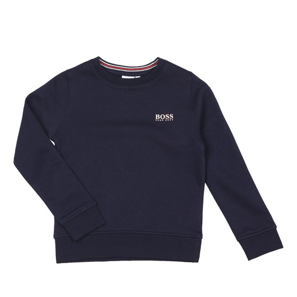 BOSS Boys Blue J24E24 Plain Sweatshirt