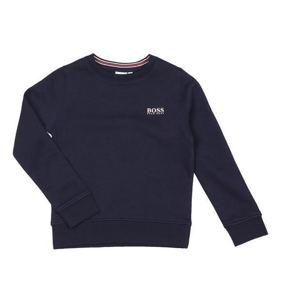 BOSS Boys Blue J24E24 Plain Sweatshirt main image