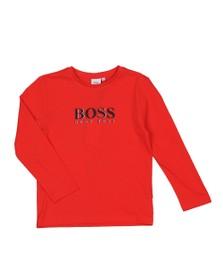BOSS Boys Red Boys J25E45 Long Sleeve T Shirt