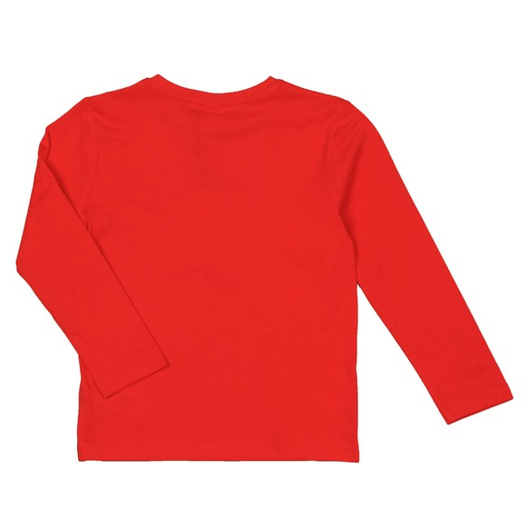 BOSS Boys Red Boys J25E45 Long Sleeve T Shirt