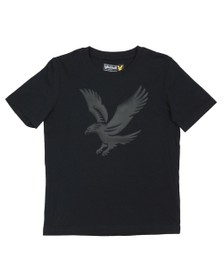 Lyle And Scott Junior Boys Black Eagle Logo T Shirt