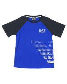 EA7 Emporio Armani Boys Blue EA7 Armani Logo T-Shirt