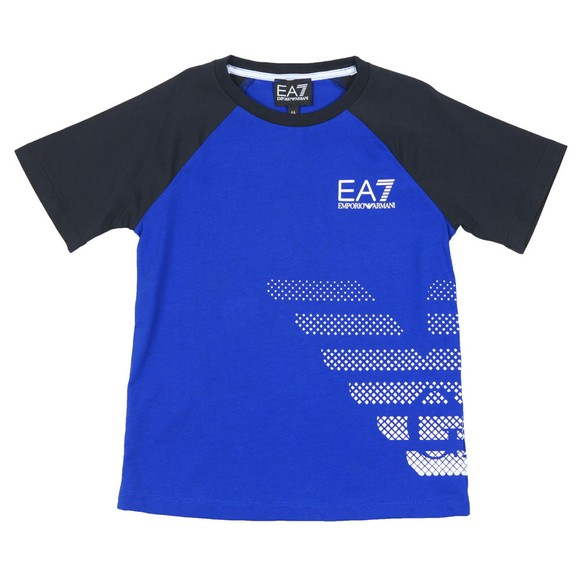EA7 Emporio Armani Boys Blue EA7 Armani Logo T-Shirt main image