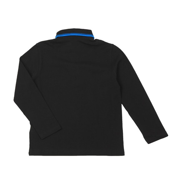 BOSS Boys Black J25E35 Tipped Long Sleeve Polo Shirt main image