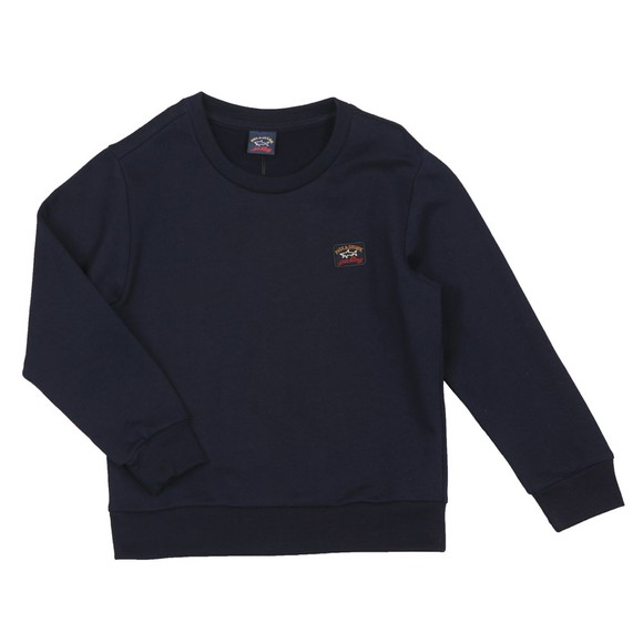 Paul & Shark Cadets Boys Blue Small Logo Sweatshirt main image