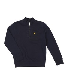 Lyle and Scott Boys Blue Half Zip Sweatshirt