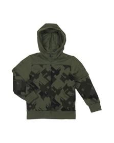 EA7 Emporio Armani Boys Green Camo Full Zip Hoody