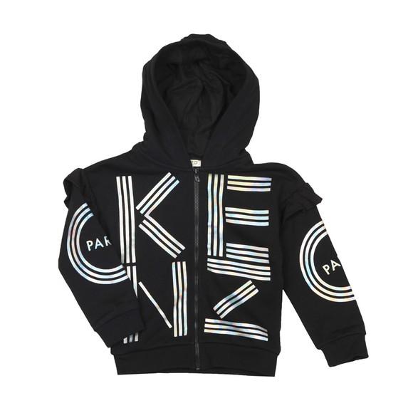 Kenzo Kids Girls Black Sport Line Logo Hoody