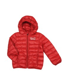 EA7 Emporio Armani Boys Red Hooded Down Jacket