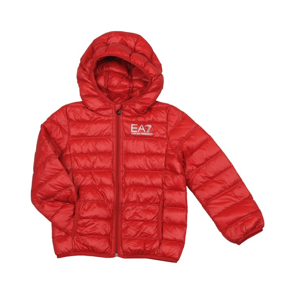 EA7 Emporio Armani Boys Red Hooded Down Jacket main image