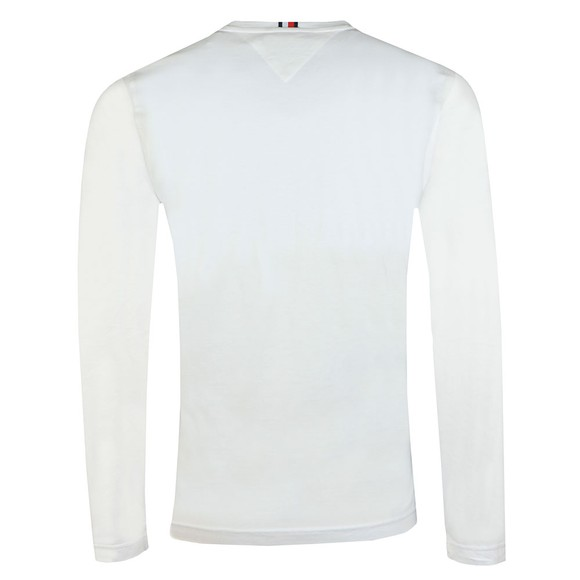 Tommy Hilfiger Mens White Corp L/S T-Shirt main image