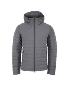 J.Lindeberg Mens Grey Ease Hooded Down Jacket