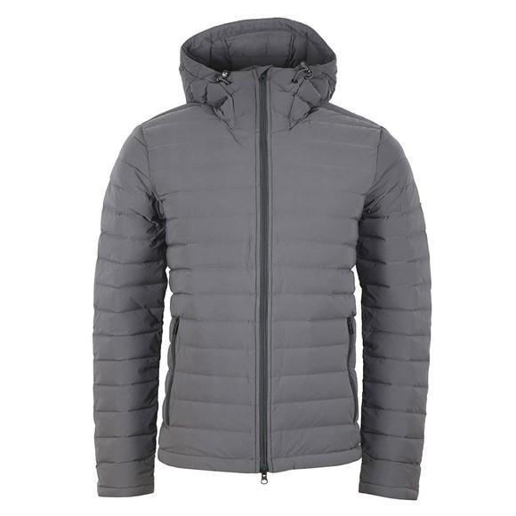 J.Lindeberg Mens Grey Ease Hooded Down Jacket