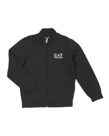 EA7 Emporio Armani Boys Black Boys Full Zip Funnel Neck Tracksuit