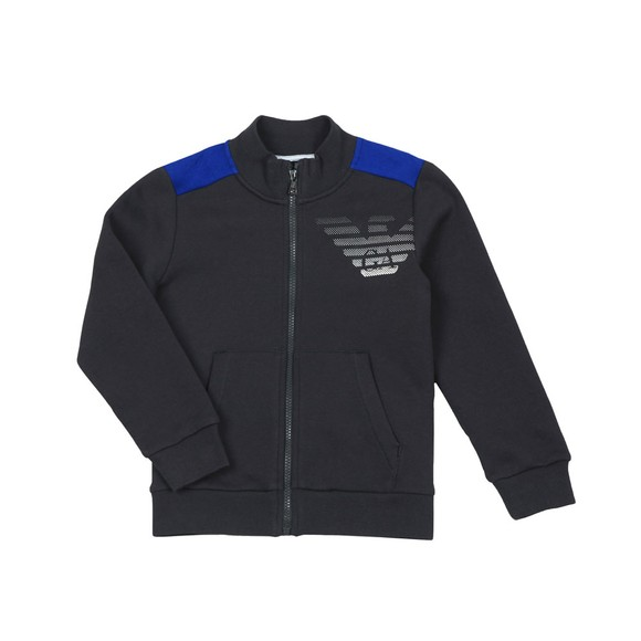 EA7 Emporio Armani Boys Blue Full Zip  Large Logo Tracksuit