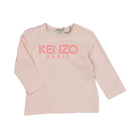 Kenzo Baby Girls Pink Sport Logo T Shirt main image