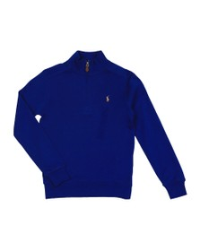 Polo Ralph Lauren Boys Blue Boys Tech Half Zip Sweatshirt