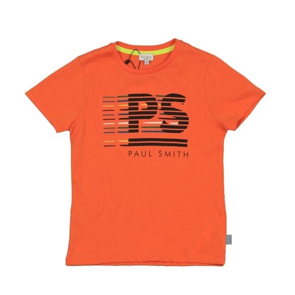 Paul Smith Junior Boys Multicoloured Voilou Neon Zebra Line T Shirt main image