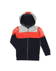 Gant Boys Blue Boys Colourblock Full Zip Hoody