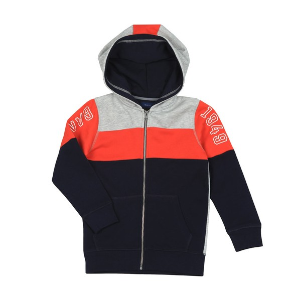 Gant Boys Blue Boys Colourblock Full Zip Hoody main image