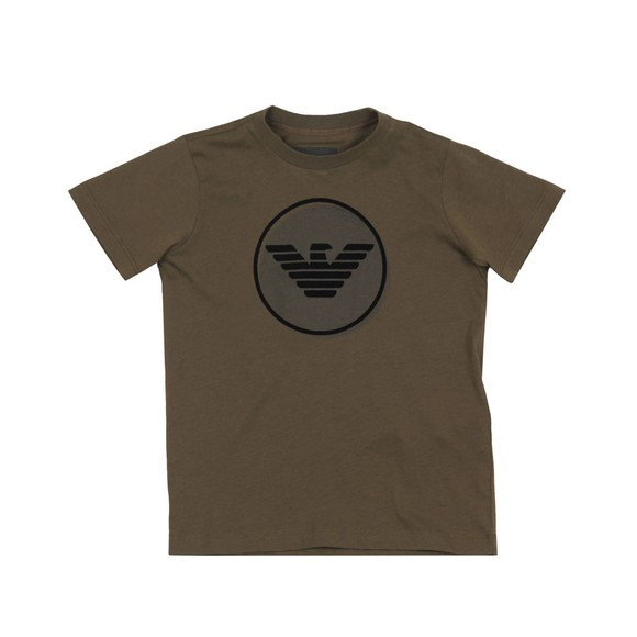 Emporio Armani Boys Green Circle Logo T-Shirt main image