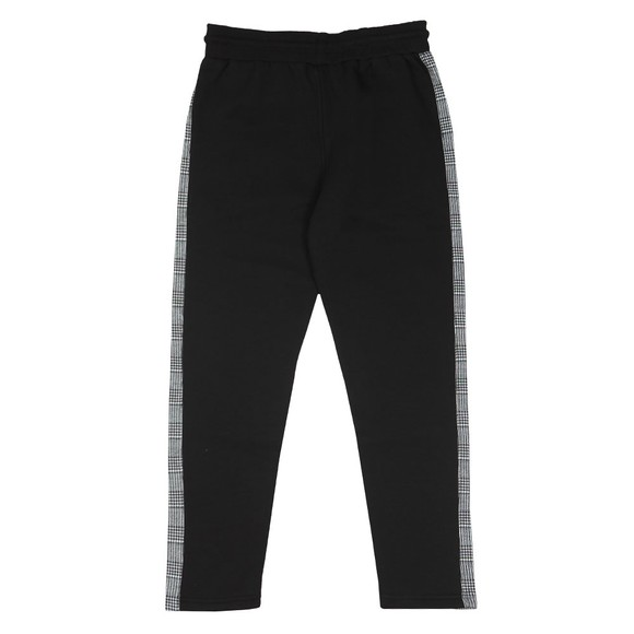 Good For Nothing Mens Black Check Tape Joggers main image