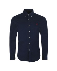 Polo Ralph Lauren Mens Blue Cord Long Sleeve Shirt
