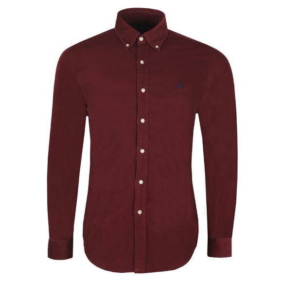 Polo Ralph Lauren Mens Red Cord Long Sleeve Shirt