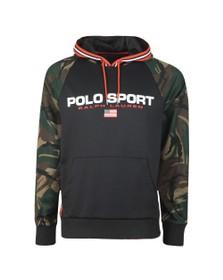 Polo Ralph Lauren Sport Mens Blue Raglan Camo Sleeve Hoody