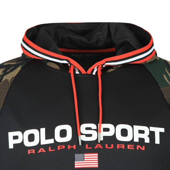 Polo Sport Ralph Lauren Mens Multicoloured Raglan Camo Sleeve Hoody