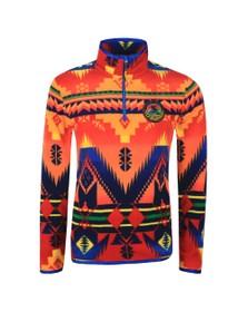 Polo Ralph Lauren Mens Orange Sportsman Half  Zip Fleece