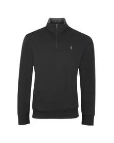 Polo Ralph Lauren Mens Black Half Zip Sweatshirt