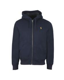 Polo Ralph Lauren Mens Blue Fleece Lined Full Zip Hoody