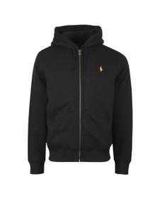 Polo Ralph Lauren Mens Black Fleece Lined Full Zip Hoody