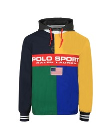 Polo Ralph Lauren Sport Mens Blue Rugby Half Zip Jacket