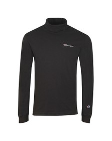 Champion Reverse Weave Mens Black Long Sleeve High Neck T-Shirt