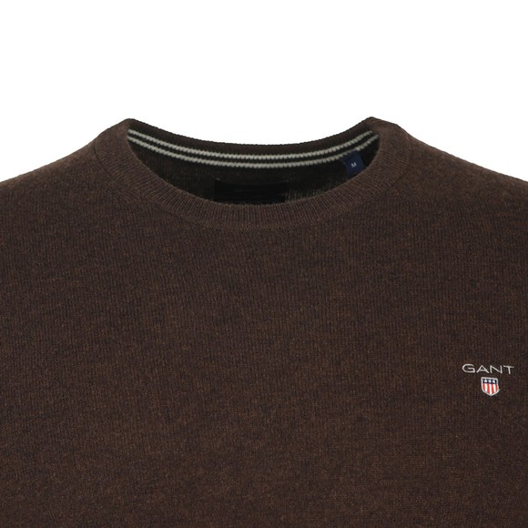 Gant Mens Brown Crew Neck Jumper