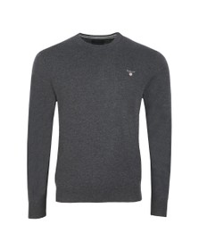 Gant Mens Grey Crew Neck Jumper