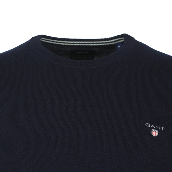 Gant Mens Blue Crew Neck Jumper