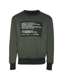 Diesel Mens Green S-Bay Mesh Sweatshirt