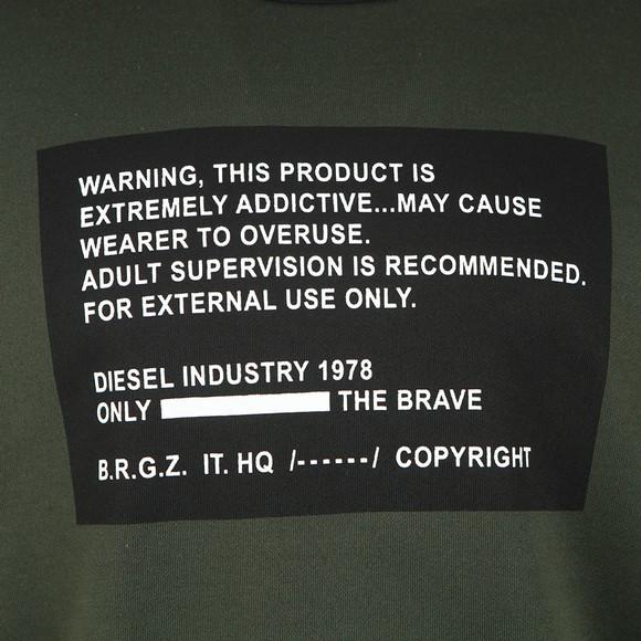 Diesel Mens Green S-Bay Mesh Sweatshirt main image