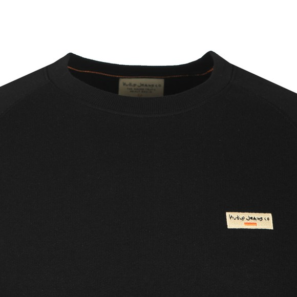 Nudie Jeans Mens Black Samuel Logo Sweatshirt main image